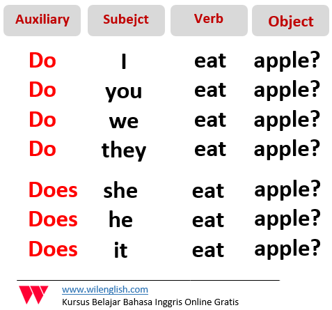 Gambar: Rumus dari interrogative verbal sentence
