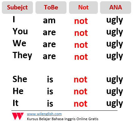 Gambar: rumus negative nominal sentence secara luas